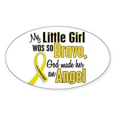 Angel 1 LITTLE GIRL Child Cancer Oval Decal