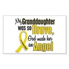 Angel 1 GRANDDAUGHTER Child Cancer Decal