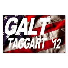 Galt Taggart 2012 Flag Rectangle Decal