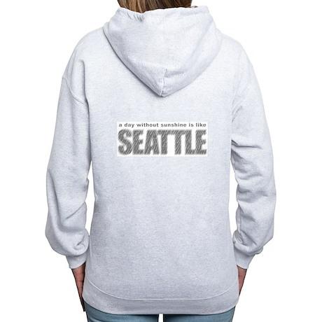 funny Rainy Seattle Weather Women's Zip Hoodie