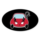 Cute Devil Car Oval Decal