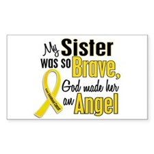Angel 1 SISTER Child Cancer Rectangle Decal