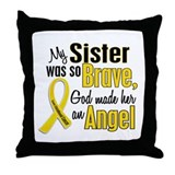 Angel 1 SISTER Child Cancer Throw Pillow