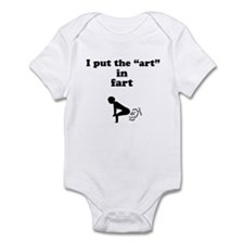 art in fart Infant Bodysuit