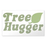 Tree Hugger Rectangle Decal