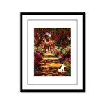Path / Rat Terrier Framed Panel Print