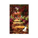 Path / Rat Terrier Sticker (Rectangle 50 pk)