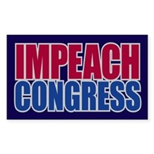 IMPEACH CONGRESS Rectangle Sticker 10 pk)