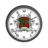 Stewart Tartan Shield Wall Clock
