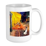 Cafe / Rat Terrier Large Mug