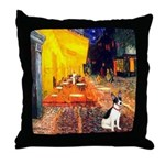 Cafe / Rat Terrier Throw Pillow