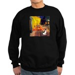 Cafe / Rat Terrier Sweatshirt (dark)