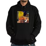 Cafe / Rat Terrier Hoodie (dark)