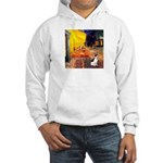 Cafe / Rat Terrier Hooded Sweatshirt