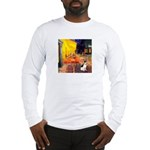 Cafe / Rat Terrier Long Sleeve T-Shirt