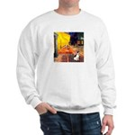 Cafe / Rat Terrier Sweatshirt