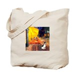 Cafe / Rat Terrier Tote Bag