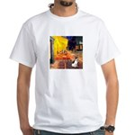 Cafe / Rat Terrier White T-Shirt