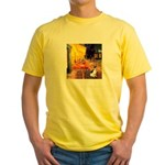 Cafe / Rat Terrier Yellow T-Shirt