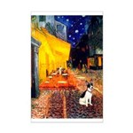 Cafe / Rat Terrier Mini Poster Print