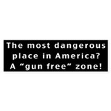 The Most Dangerous Place Bumper Car Sticker