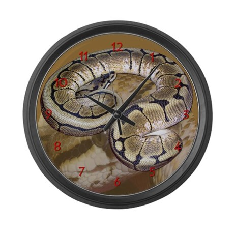 spider ball python Large Wall Clock