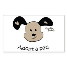 Adopt a Pet! Cute Puppy Design Rectangle Decal