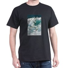 Sea Horse Black T-Shirt