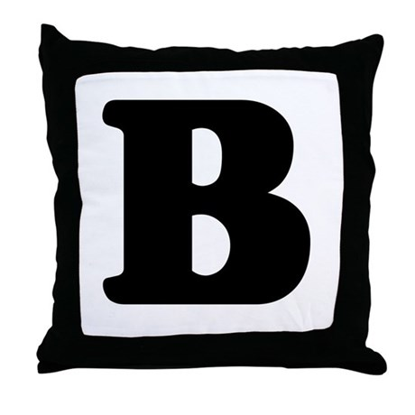 large letter b throw pillow by alphabetgear With letter b pillow
