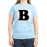 Large Letter B Women's Pink T-Shirt