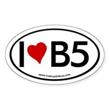 I (heart) B5 Oval Decal