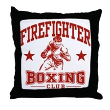 Firefighter Boxing Throw Pillow
