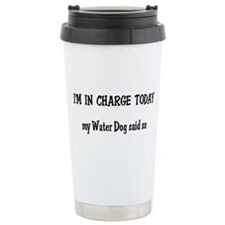 I'm in Charge Water Dog Ceramic Travel Mug
