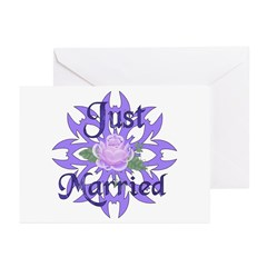 Lavender Marriage Rose Greeting Cards (Pk of 20)