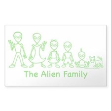 AlienFamilyText Rectangle Sticker 50 pk)