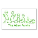 AlienFamilyText Rectangle Sticker 10 pk)