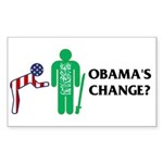 Change? Rectangle Sticker