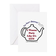 Cute Party like it s 1773 Greeting Cards (Pk of 10)