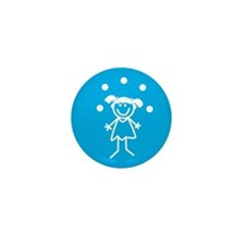 Juggle Girl Mini Button (100 pack)