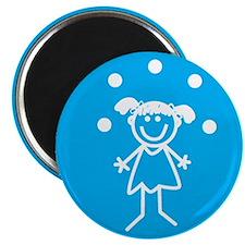 """Juggle Girl 2.25"""" Magnet (10 pack)"""
