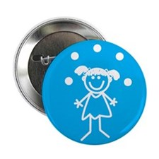 "Juggle Girl 2.25"" Button (10 pack)"