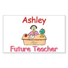 Ashley - Future Teacher Rectangle Decal