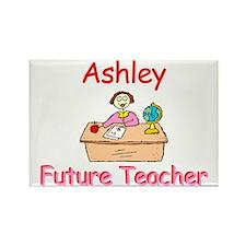 Ashley - Future Teacher Rectangle Magnet