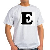 Large Letter E Ash Grey T-Shirt