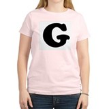 Large Letter G Women's Pink T-Shirt