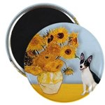 Sunflowers / Rat Terrier Magnet