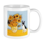 Sunflowers / Rat Terrier Mug