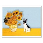 Sunflowers / Rat Terrier Small Poster