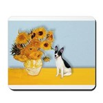 Sunflowers / Rat Terrier Mousepad