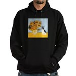 Sunflowers / Rat Terrier Hoodie (dark)